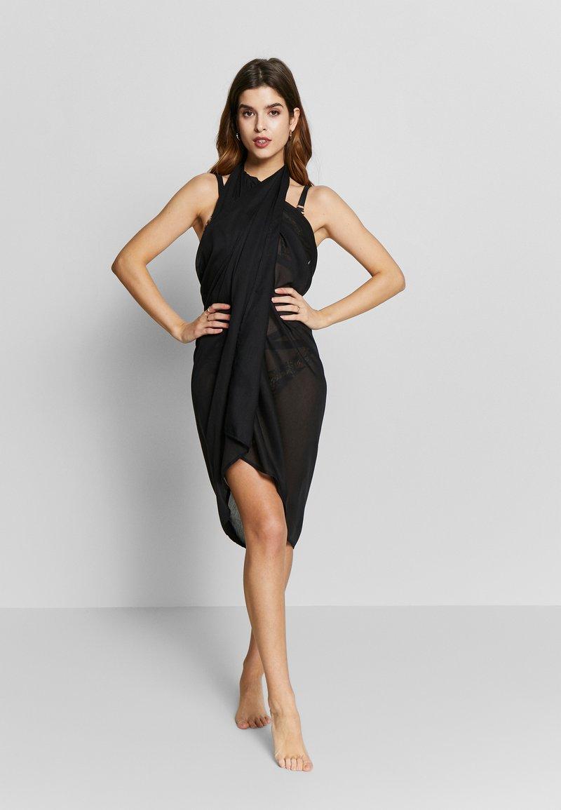 LASCANA - PAREO - Wrap skirt - schwarz