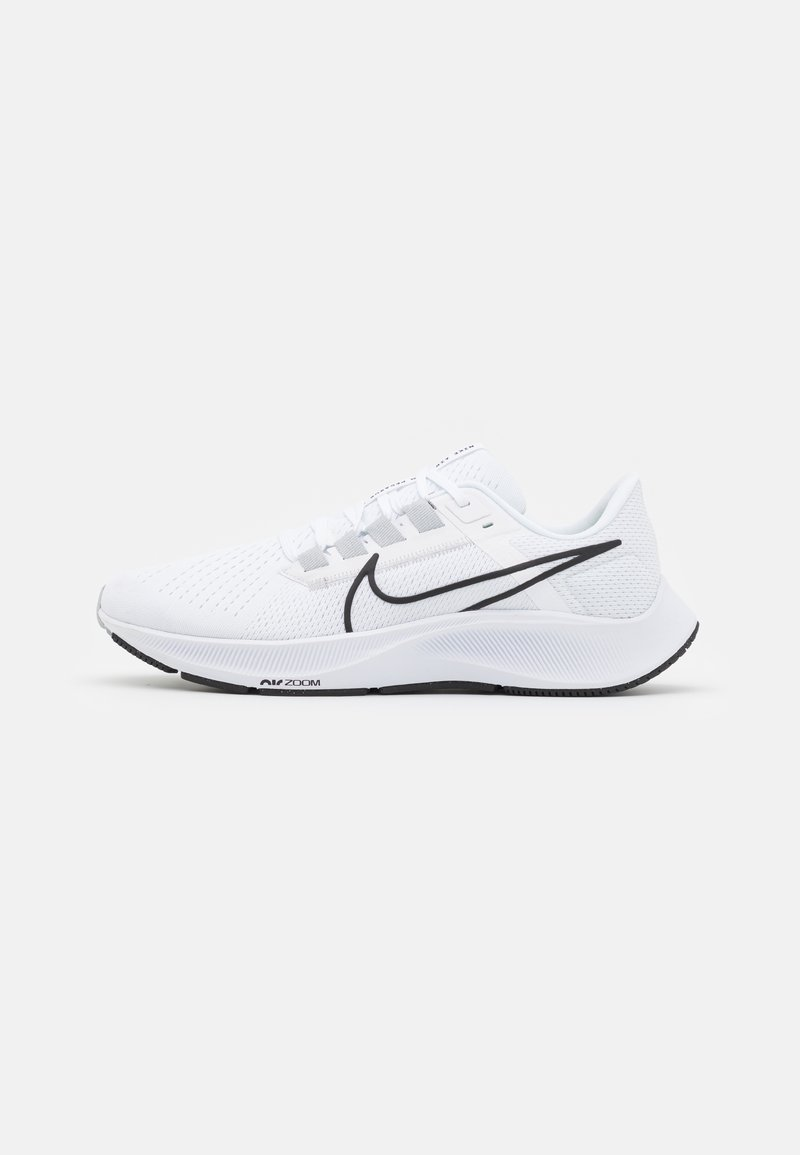 Nike Performance - AIR ZOOM PEGASUS 38 - Neutral running shoes - white/black/pure platinum/volt
