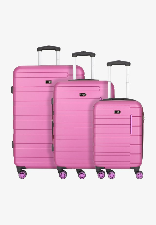 Luggage set - beere/pink