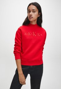 Calvin Klein Jeans - Sweatshirt - red hot darker red - 0