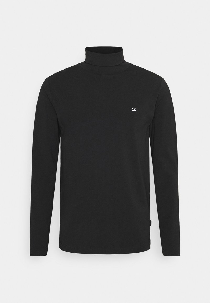 Calvin Klein - ROLL NECK LONG SLEEVE  - Long sleeved top - black