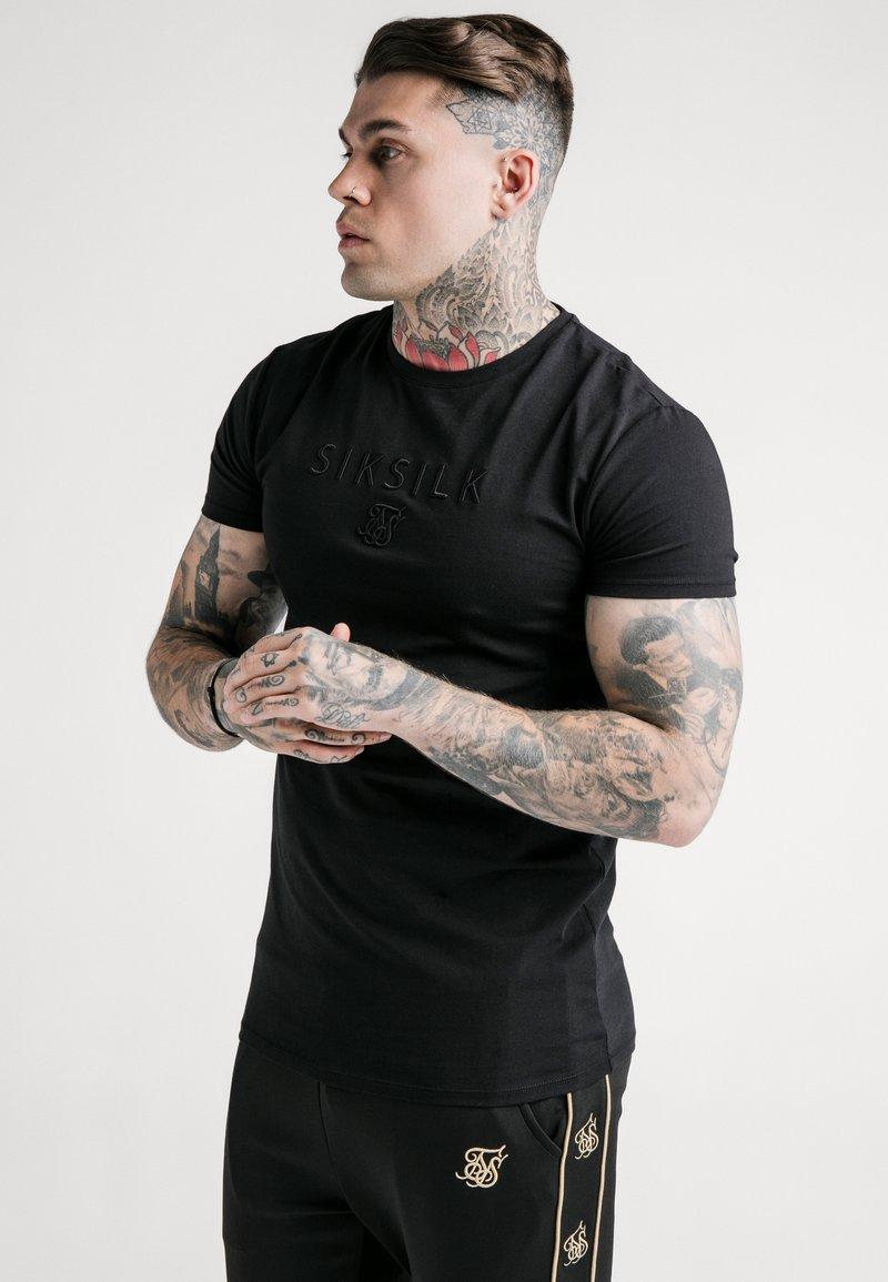 SIKSILK - ASTRO GYM TEE - Basic T-shirt - black