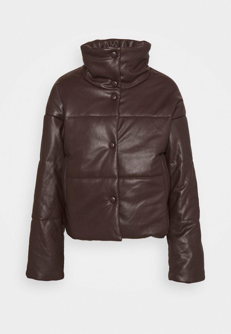 NA-KD - PADDED JACKET - Winter jacket - brown
