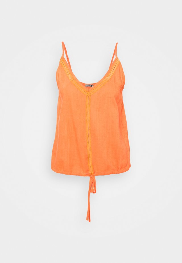 LARA PLAIN - Top - sun orange