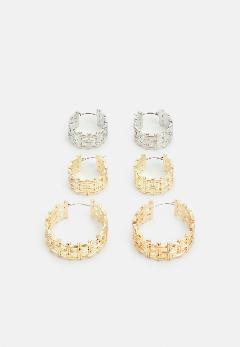 Pieces - PCSARA HOOP EARRINGS 3 PACK - Earrings - gold-coloured/silver-coloured