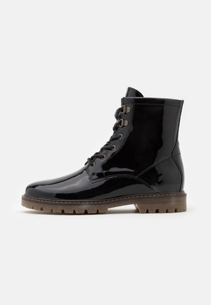 MY - Bottines à lacets - black