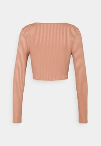 Missguided Tall - RECYCLED RUCHED FRONT CROP TOP - Blouse - pink - 1