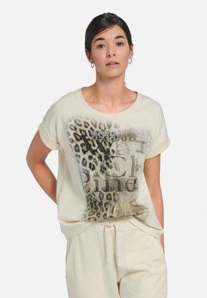 T-shirt print - vanille/multicolor