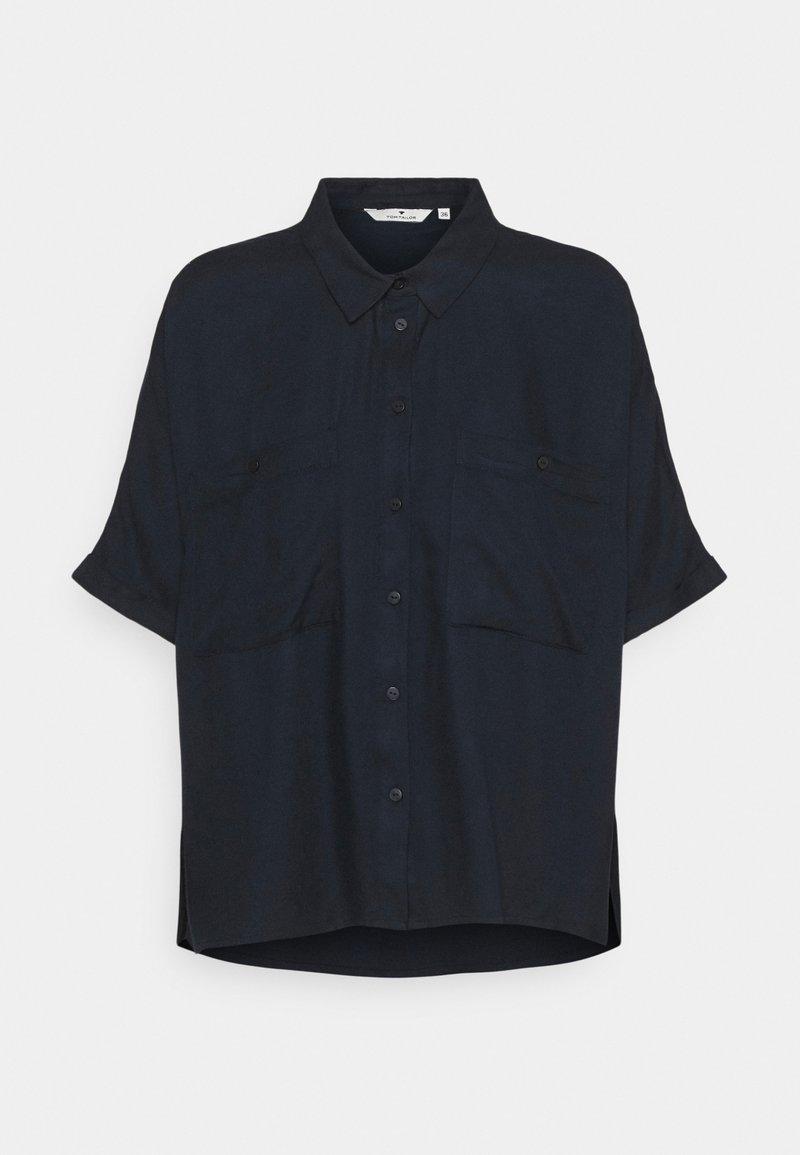 TOM TAILOR - BLOUSE SOLID LOOSE SHAPE - Button-down blouse - sky captain blue
