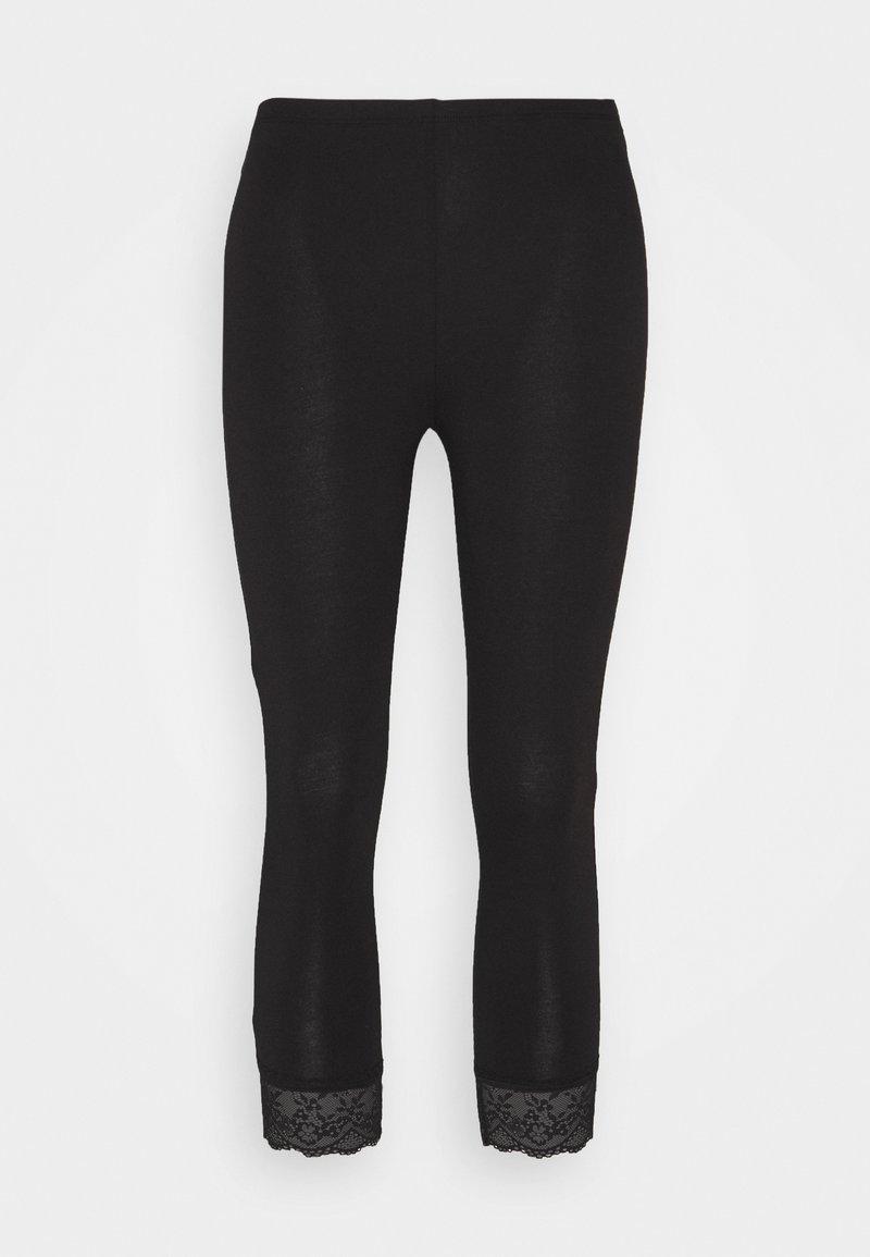 Vila - VIOFFICIAL CROPPED - Leggings - Trousers - black
