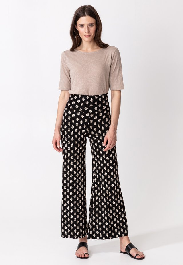 NINA  - Trousers - blackwhite