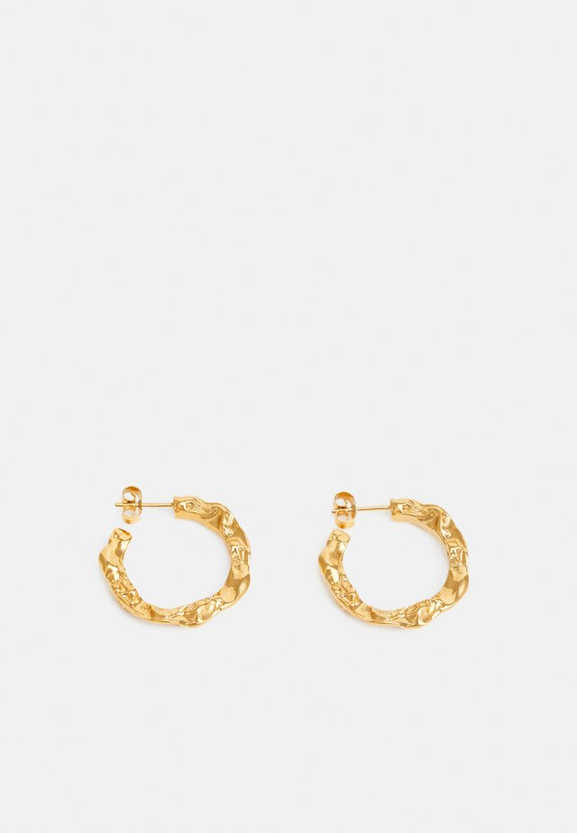 FULL MOON HOOPS - Øreringe - gold-coloured