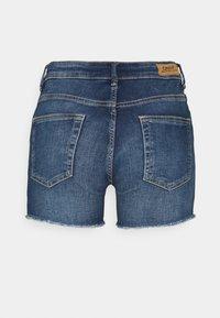 ONLY - ONLBLUSH  LIFE MID - Jeansshorts - dark blue denim - 1