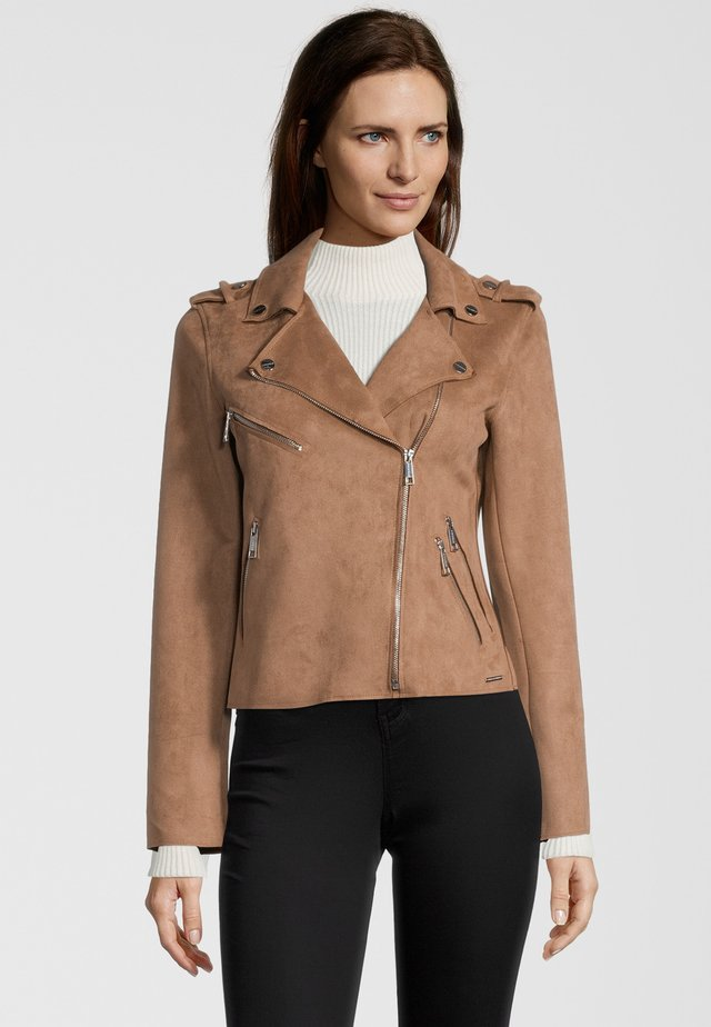 BALOU - Faux leather jacket - woodsmoke