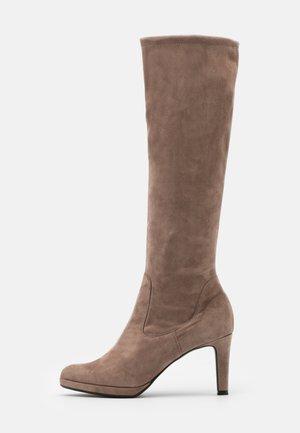 PAULINE - Boots med høye hæler - sand