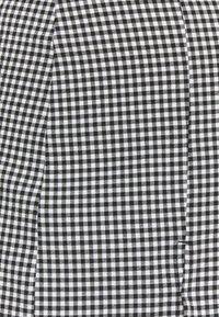 Monki - RENATA SKIRT - Mini skirt - black dark/white - 2