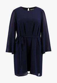 Glamorous Curve - SLEEVE BELTED MINI DRESS - Day dress - navy - 5