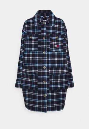 CHECK WOOL COAT - Short coat - twilight navy/multi check