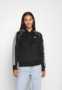 adidas Originals - TRACKTOP - Veste de survêtement - black/white - 2