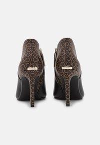Calvin Klein - ESSENTIAL MIX - High heeled ankle boots - black/brown mono - 3