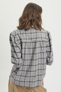 My Essential Wardrobe - MWBELLE PUFF - Button-down blouse - charcoal gray check - 2