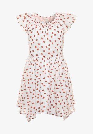 ERIN SMOCKED NECK DRESS VOIL - Vestito estivo - ivory/red