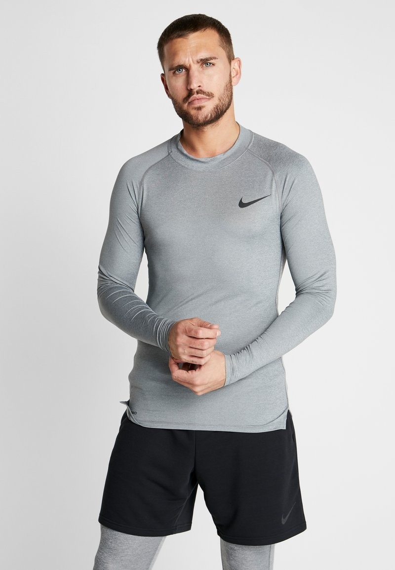 Nike Performance - PRO TIGHT MOCK - Camiseta de deporte - smoke grey/light smoke grey/black