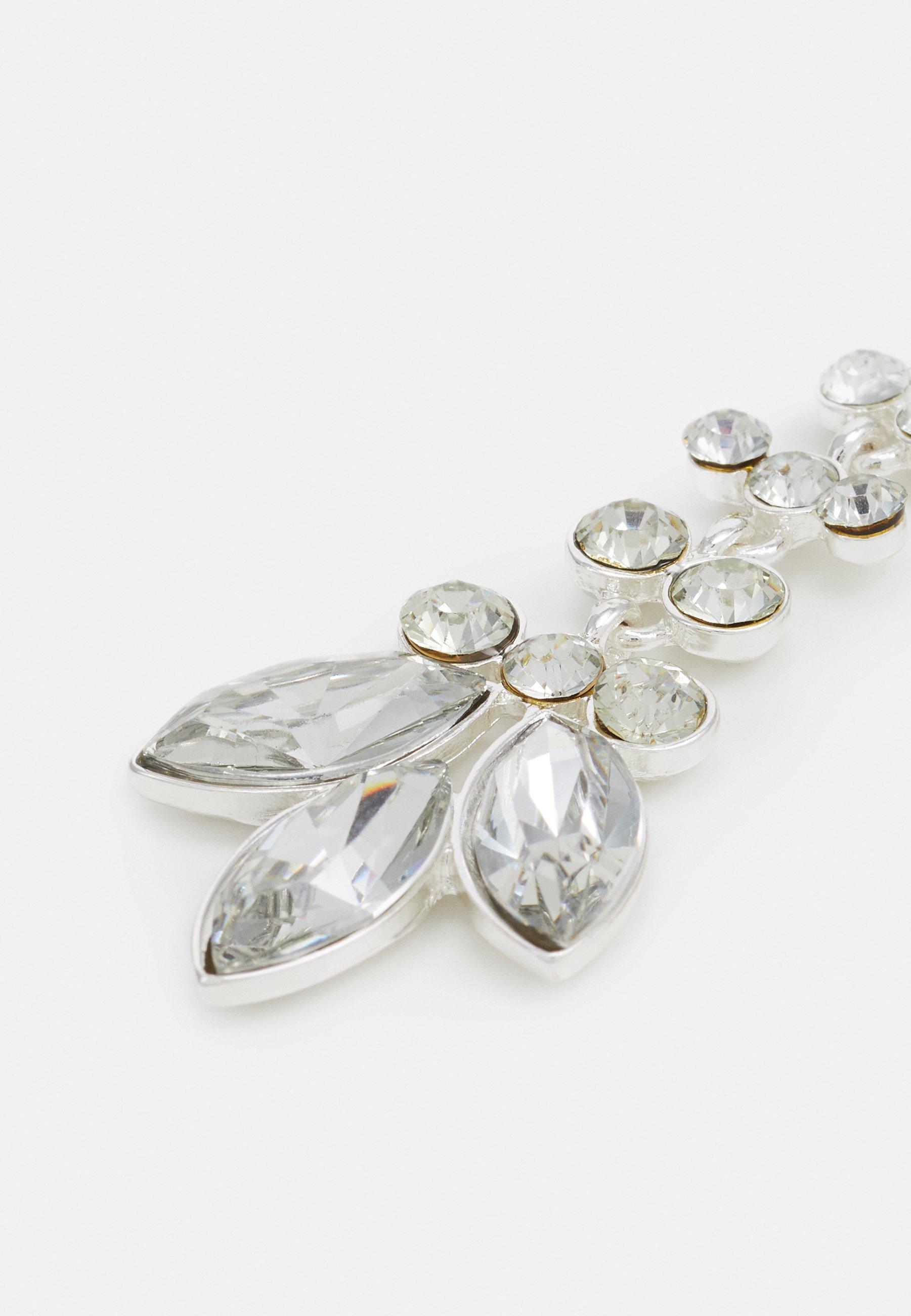 Pieces PCMELANI EARRINGS - Øredobber - silver-coloured/clear/transparent jejwQigaklANflW