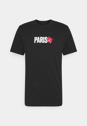 PARIS CITY CREW - Camiseta estampada - black