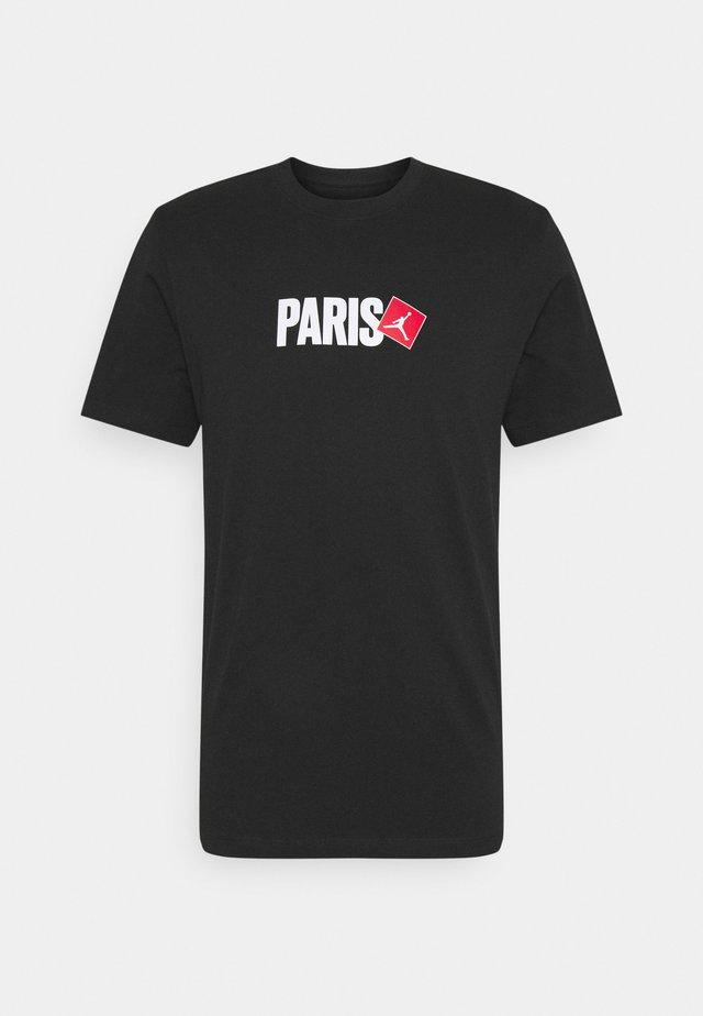 PARIS CITY CREW - T-shirt con stampa - black