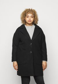 CAPSULE by Simply Be - SINGLE BREASTED RELAXED COAT - Classic coat - black - 0