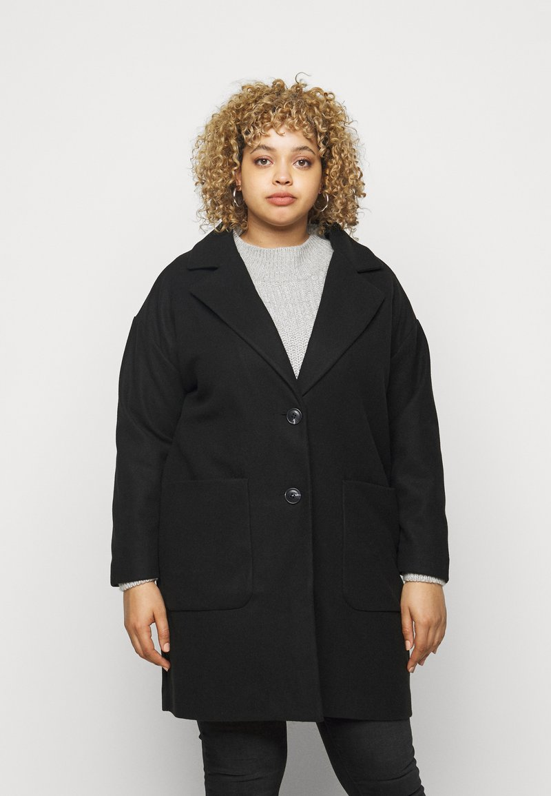CAPSULE by Simply Be - SINGLE BREASTED RELAXED COAT - Classic coat - black