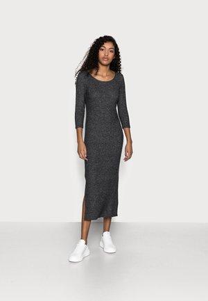3/4 SLEEVE BRUSHED MIDI DRESS - Sukienka dzianinowa - charcoal