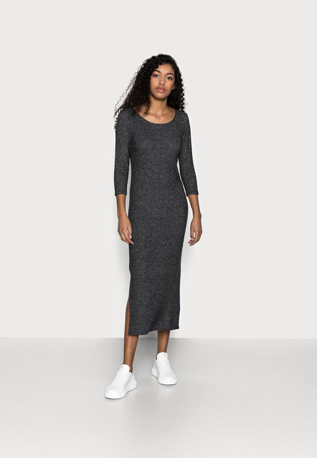 3/4 SLEEVE BRUSHED MIDI DRESS - Sukienka dzianinowa - charcoal