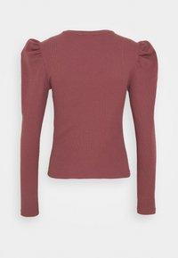 JDY - JDYCEREN PUFF SLEEVE - Long sleeved top - rose brown - 1