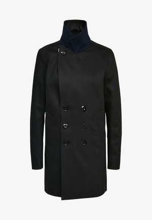 LINED DENIM - Manteau court - pitch black