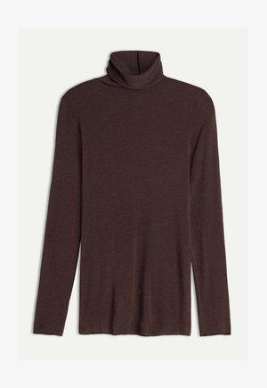 HOCHGESCHLOSSENES ULTRALIGHT - Långärmad tröja - braun - 545i - brown blend