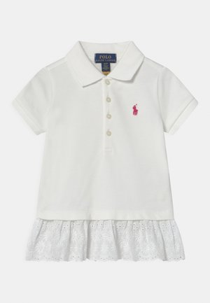 EYELET - Polo - white/accent pink