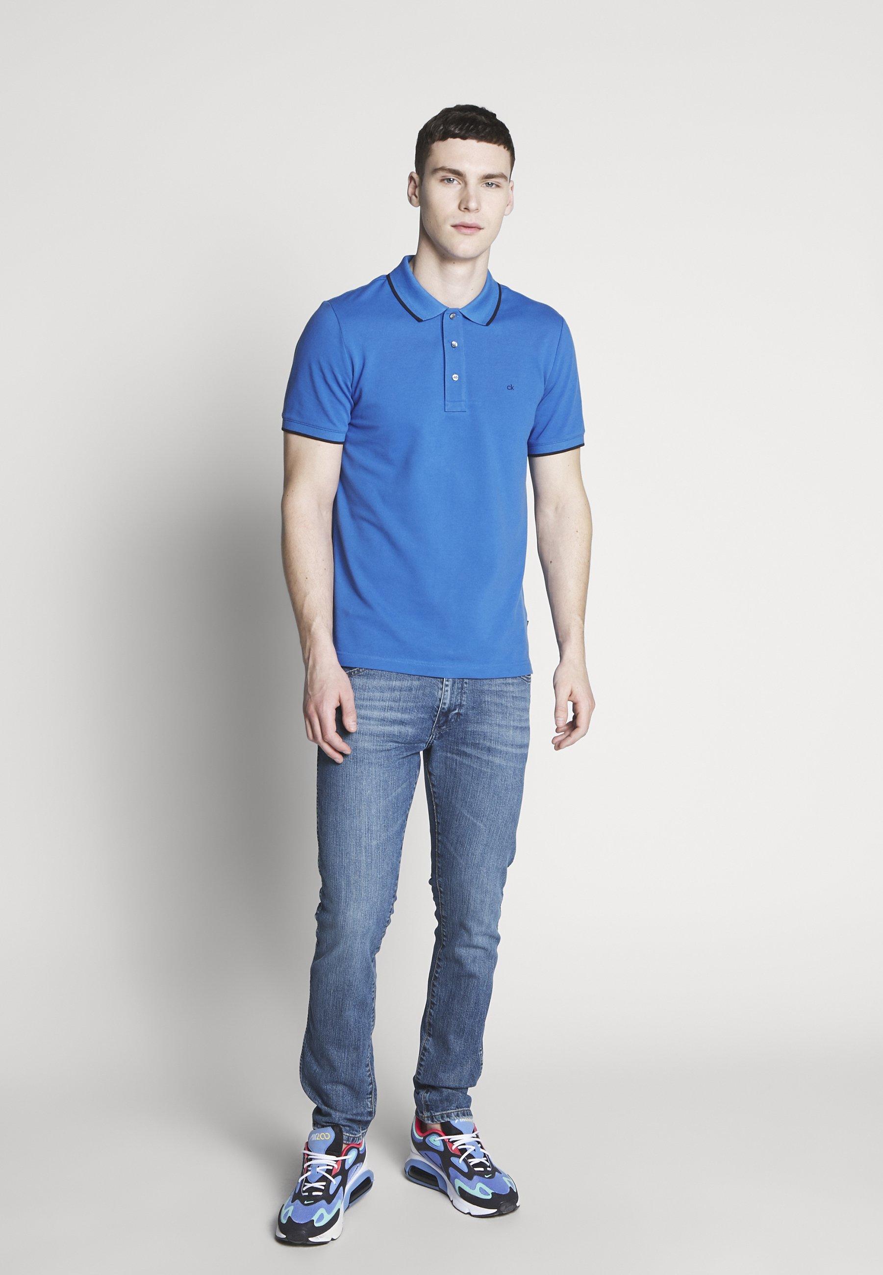 Calvin Klein TIPPING SLIM - Polo - blue