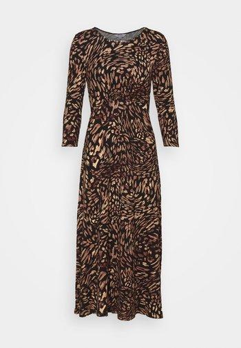 ANIMAL EMPIRE SEAM MIDI DRESS - Jersey dress - black