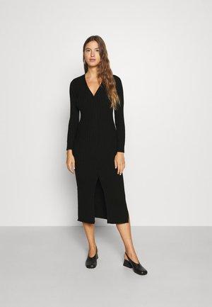 CARDIGAN DRESS - Jumper dress - black