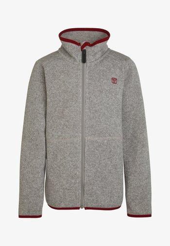 TRICKY - Fleece jacket - greymelange