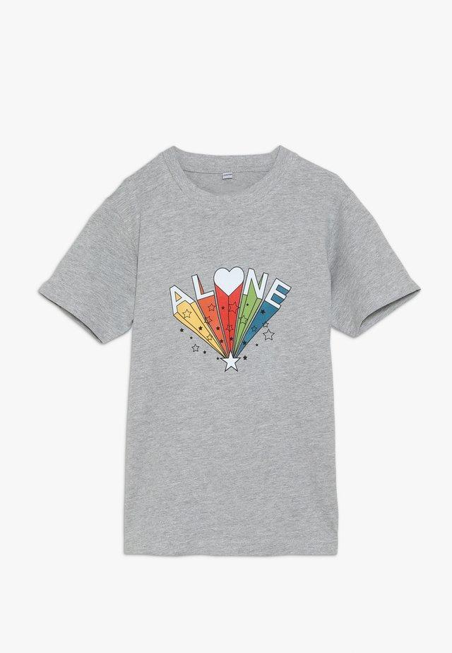 KIDS ALONE TEE - Print T-shirt - grau