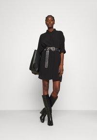 Zign - Skjortklänning - black - 1
