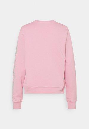 RHINESTONE LOGO - Mikina - pink