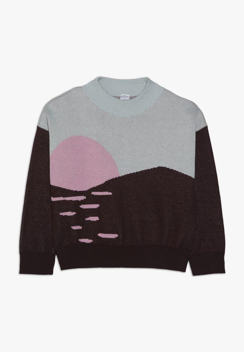 TINYCOTTONS - SUNSET  - Cardigan - aubergine/light mint