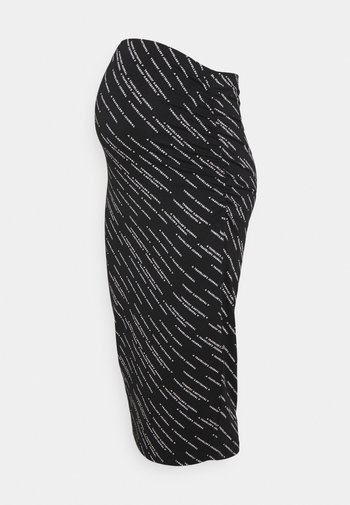 SKIRT WAY TEXT - Pencil skirt - black