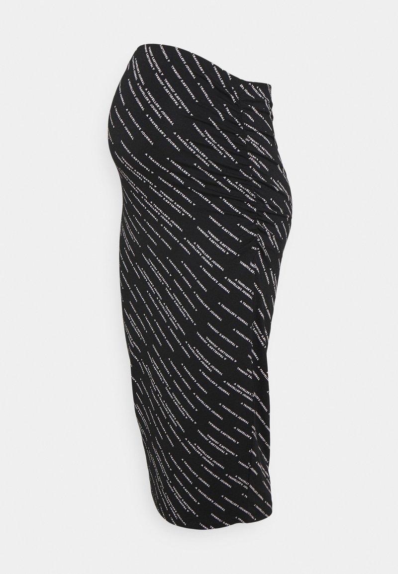Supermom - SKIRT WAY TEXT - Pencil skirt - black