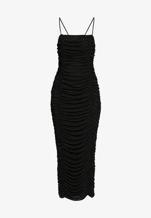CAMI RUCHED DRESS - Galajurk - black