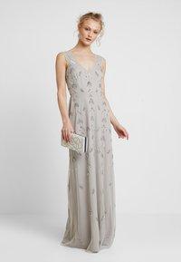 Maya Deluxe - STRAP DRESS WITH EMBELLISHMENT - Společenské šaty - grey - 1